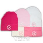 Трикотажная шапочка для девочки с вышивкой MK