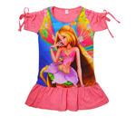 Платье 3D/короткий рукав (Флора)