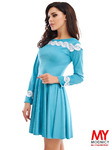 Замшевое платье 3159