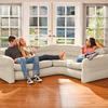 Надувной угловой диван Intex: 257х203х76см Насос приобретается отдельно
