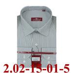 2.02-15-01-5 сорочка полуприт коричн полоска микро длин
