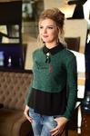 Блузка зелёная1285
