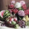 Картины по номерам Белоснежка арт.БЛ.172-АВ Георгины и фрукты 40х50 см