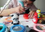 3D ручка (1 шт) + набор пластика (10, 15, 20, 30, 40 цветов пластика по 10 метров каждого цвета)