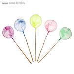 Сачок детский, бамбуковая ручка 58 см, d=24 см, цвета МИКС