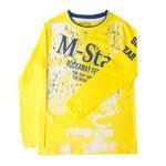 """Футболка с длинным рукавом """"M-STAR"""" цвет желтый"""