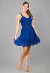 Платье 14023-2 электрик синий