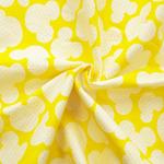 Ткань на отрез бязь плательная №1717/8 цвет желто-белый Микки