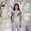 Костюм женский модель 5-83 (серый меланж) Модница
