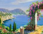 "Картина по номерам оптом ""У синего моря"": GX7234"