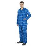 Пижама мужская, рукав длинный, бязь набивная 100% хлопок