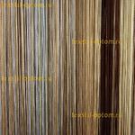 Нитяные шторы с люрексом