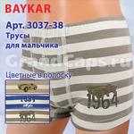 3037-38 цветные в полоску Baykar 6 (шорты для мальчика)