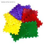 Детский массажный коврик, 8 модулей, 4 вида покрытия, МИКС 1 (не является медицинским изделием)