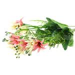 """71601 - Букет """"Хризантемы"""" белый с розовым 35см (Китай)"""
