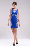 Нарядное платье с аппликацией RicaMare RM220-15VC