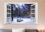 Виниловая наклейка Зимний вечер 3D