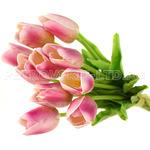 """70982 - Цветок """"Тюльпан сиреневый"""" 33см, букет 10 штук (Китай)"""