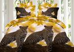 """Комплект постельного белья (КПБ) из поплина 3D """"Леопард"""""""