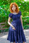 Платье 17307-2С т-синий