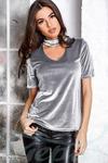 Элегантная бархатная блуза