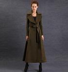 Пальто женское длинное хаки, размер 44-46