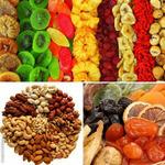 Смесь орехов, сухофруктов и цукатов/ядра сырых орехов фундука,грецкого ореха,арахис жареный в сахаре, банановые чипсы, цукаты ананаса, изюм Малаяр/ассорти йогуртов/шоколадов/ассорти рахат лукумов/