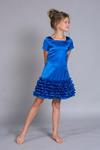 Платье нарядное для девочки арт.П-015электрик