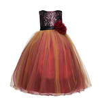 Amberry Little Big Girl's Sequined Party Dress