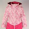 Пальто на девочку розовый букет/ярко розовый