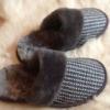Тапочки из гобелена  с опушкой  р-р 36-45