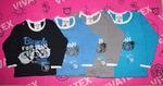 Детская футболка длинный рукав для мальчиков/для девочек кулир