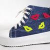 Джинсовые кеды-ботинки NOVBIS 1642 blue