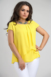 Блуза а375. Желтый. Блузочная ткань.