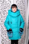"""Зимняя куртка для девочки """"Феличе"""" (хомут в комплекте)"""