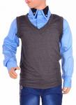 Рубашка с жилетом T25001