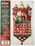 Bucilla Felt Applique Advent Calendar Kit, 13 by 25-inch, 86312 Must Be Santa