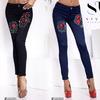 Очаровательные облегающие джинсы со средней посадкой