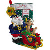 Bucilla 18-Inch Christmas Stocking Felt Applique Kit, 86711 Officer Santa