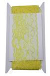 Кружево 8 см*10 ярд (SF-104) лимонный Артикул: 200-145