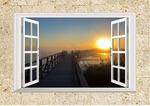 Виниловая наклейка Летний закат