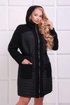 Легкое комбинированное пальто НОРА