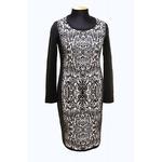 Платье з-06 черно-белый
