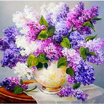 "Алмазная живопись ""Сирень"" (набор) 25 х 25 см арт. MY151"