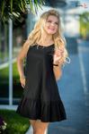 Платье чёрное 7699
