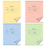 Тетрадь ACTION! ШКОЛЬНАЯ,мелов. картон, лин.,ф. А5, 12 л.,4 цвета ассорти