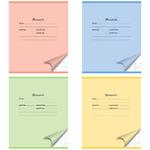 Тетрадь ACTION! ШКОЛЬНАЯ,мелов. картон, кос.лин., ф. А5, 12 л.,4 цвета ассорти