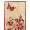"""4с84.112 67*40 """"Бабочки и цветы"""" полотенце махровое"""