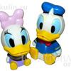1toy Disney новорожд. наб. игр. для ванны, Дональд Дак (10см) /Дейзи (9, 5 см), брызг., в сетке