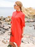 Льняное платье прямого кроя, размеры 44-54